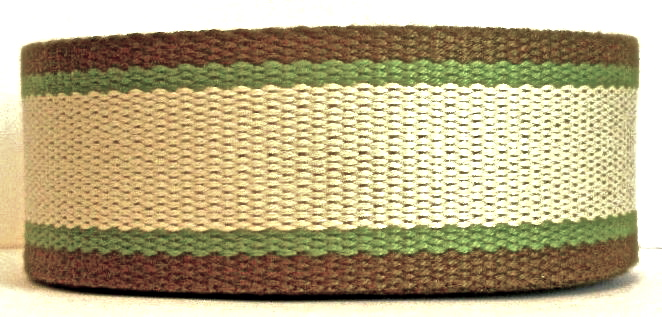 "CWS 1 1/2"" (2yds) OLIVE/KHAKI/BROWN COTTON WEBBING"