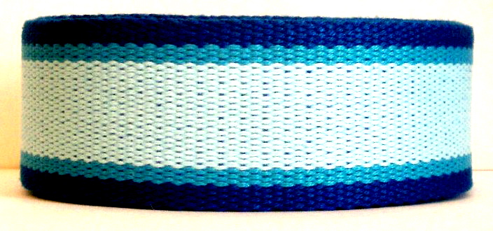 "CWS1  1 1/2"" (3 yds)  THE BLUES COTTON WEBBING"