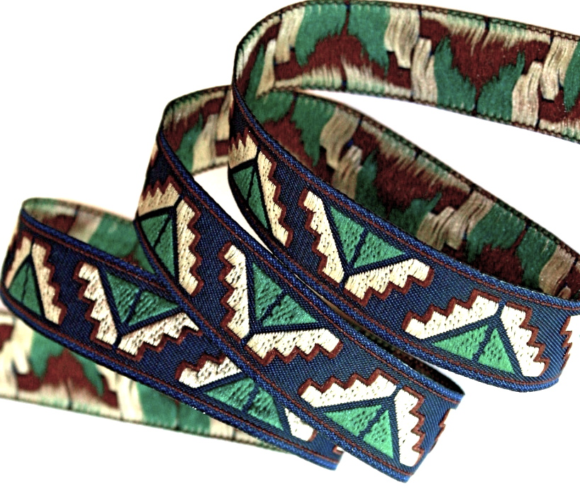 "TRIBAL GEOMETRIC22 5/8"" NAVY/KHAKI/FOREST GRN/BURGANDY (10 YDS)"