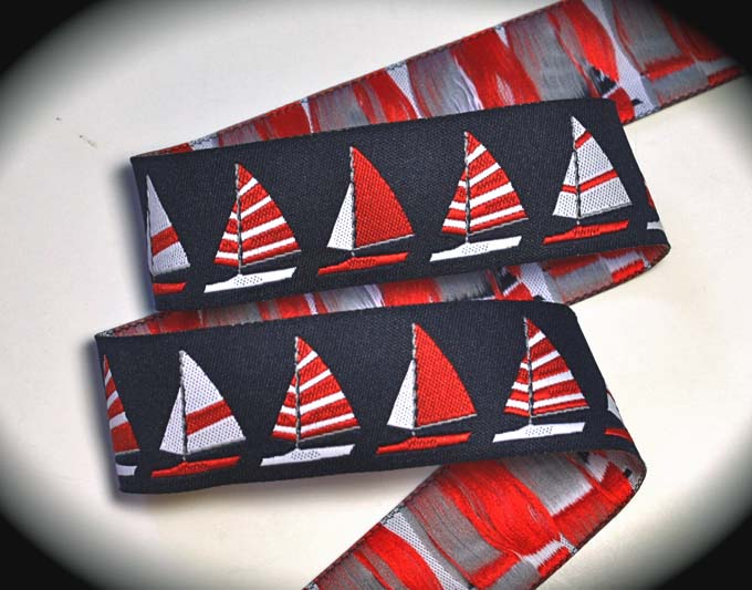 Sailboat2015A 1' X 25  yds -Navy, Red and White
